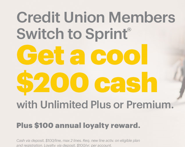 sprint CU rewards